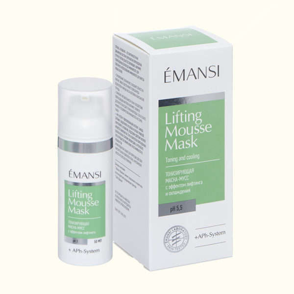 маска мусс, тонизирующая, лифтинг, охлаждающая маска, с аутофагией