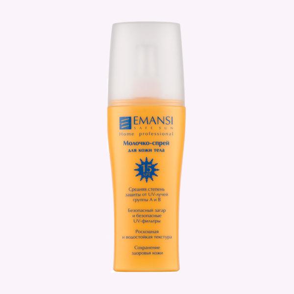 emansi, SPF15, защита от солнца, защита от УФ-лучей, молочко от солнца, спрей от солнца