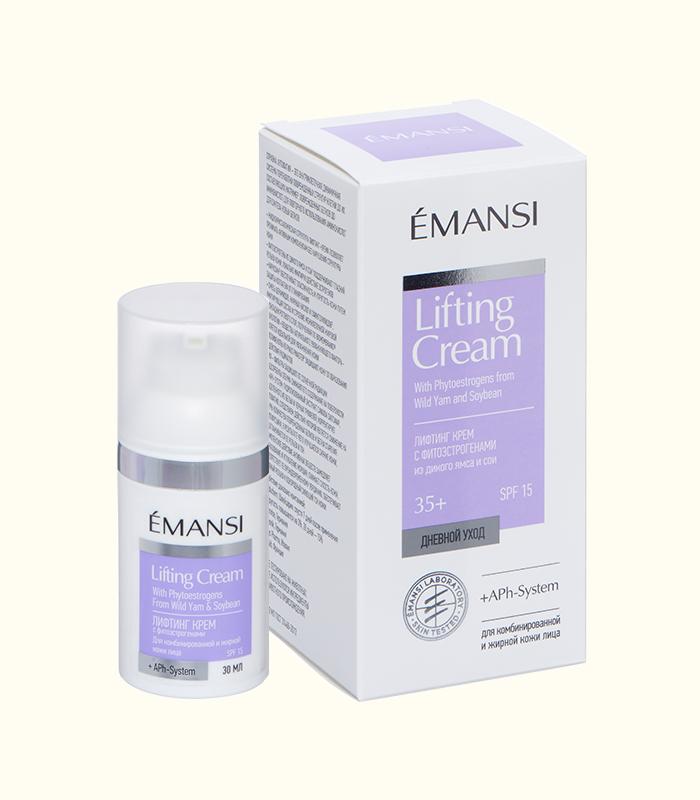 emansi, лифтинг крем, дневной крем, антивозрастной крем