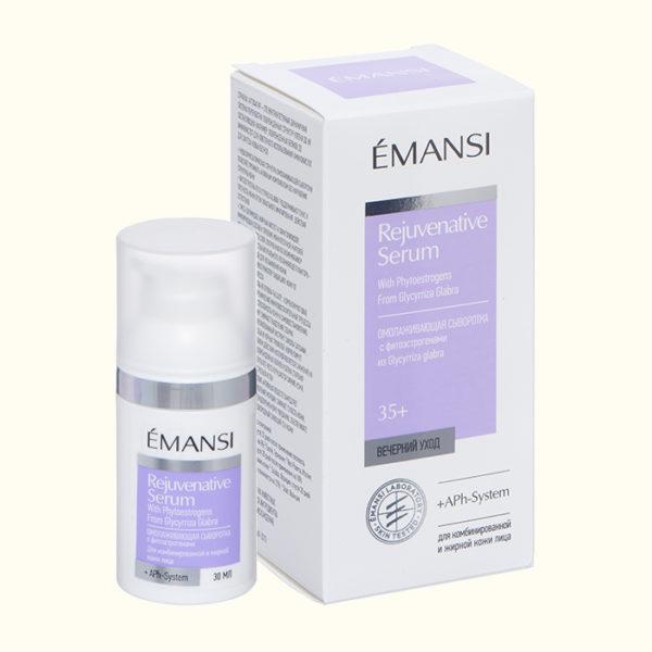 emansi, сыворотка омолаживающая, ночной крем, антивозрастной крем, сыворотка с фитоэстрогенами