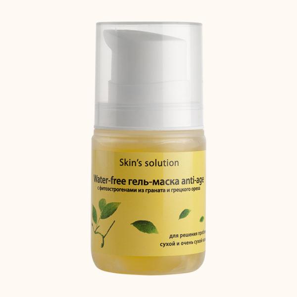эманси, emansi, water – free гель маска, с фитоэстрогенами, anti-age, из граната и грецкого ореха, анти-возрастной, , для сухой кожи, для очень сухой кожи, для нормальной кожи